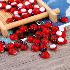 <b>100pcs</b>/<b>lot Mini</b> Cabochon Ladybug Fairy Garden Miniatures Garden ...