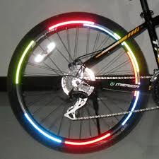 <b>1pc Bicycle Tire</b> Wheel Fluorescent Reflector Stickers On The Bike ...