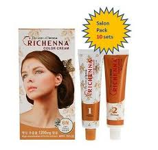<b>RICHENNA</b> Hair Color Cream Salon Pack(10set) D.I.Y. Coloring ...