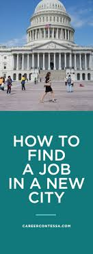 how to a job in a new city
