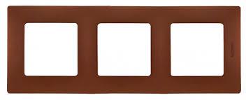 Трехместная <b>рамка Legrand Etika</b> какао <b>672573</b>: купить по цене ...