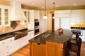 build kitchen island sink: here we have another two tiered island adding contrast to a kitchen with warm natural