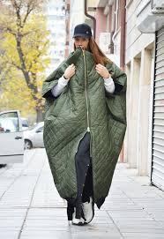 Military <b>Green</b> Sleeveless Maxi Vest, Quilted <b>Warm</b> Windproof Long ...