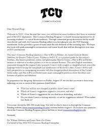 submit your common reading assignment  tcu student development  assignment