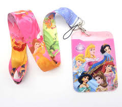 high quality one cartoon princess <b>Lanyards Neck Strap</b> ID Card ...