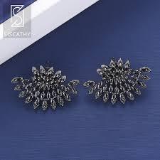 <b>SISCATHY Popular</b> geometric earrings Triangle Fans Shape Cubic ...