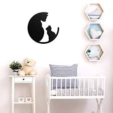 Vinyl Wall Art Decal - Mom and Baby Cat - 22