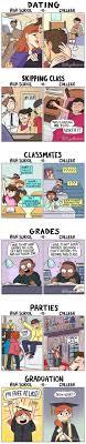 high school vs college comics humor colleges high school vs college