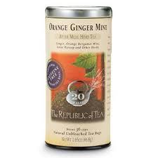 Orange Ginger Mint <b>Herbal Tea</b> from Republic of Tea. I got a sample ...