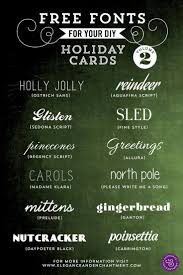 17 best ideas about holiday cards handmade fonts for diy holiday cards volume 2 elegance enchantment