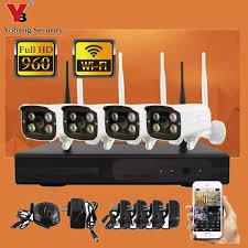 <b>YobangSecurity</b> 4CH <b>Wireless Wifi</b> NVR Camera <b>System</b> 960P 4x ...