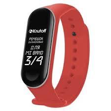 <b>Ремешок</b> силиконовый <b>Krutoff для</b> Xiaomi Mi Band 3/4 (red) оптом