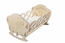 <b>Кроватка для кукол Лидер</b> деревянная Золотая рыбка 11392 ...