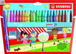 <b>Набор фломастеров Stabilo</b> Power, 24 цвета купить за 658 ...