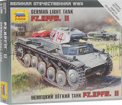 <b>Звезда Сборная модель Немецкий</b> легкий танк PZ.KPFW.II ...