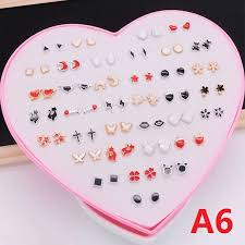 36Pairs Women <b>Earring Elegant</b> Fashion Earing Crystal Rhinestone ...