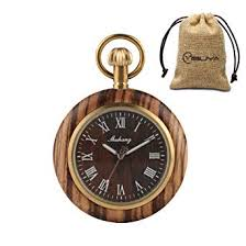 Creative Vintage Wooden Pocket Watch Roman ... - Amazon.com