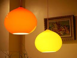 best ideas orange glass pendant light hung ceiling cord chain kitchen rom decoration yellow color bright amazing pendant lighting