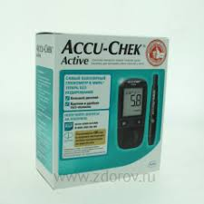 <b>Глюкометр Accuchek Active</b> (набор) цифр. электронный