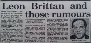 Resultado de imagem para leon brittan scandal