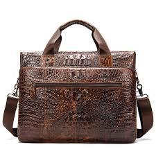 2019 genuine leather briefcase bag