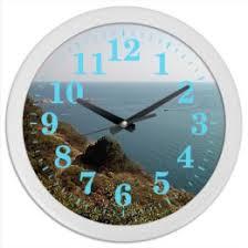 """Часы для офиса c прикольными принтами """"Природа"""" - <b>Printio</b>"""