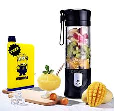 Buy DELWOR Fruit Juicer Rechargeable <b>Portable Travel Electric</b> ...