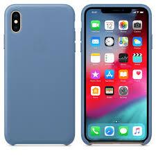 <b>Чехол Apple Leather Case</b> - Cornflower синий, для iPhone XS Max ...
