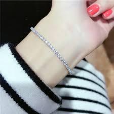 <b>Women</b> Rhinestone <b>Crystal</b> Bracelet Adjustable Bangle Cuff Jewelry ...