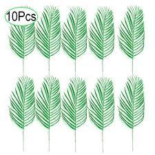 <b>10pcs</b> Artificial <b>Palm</b> Tree Faux Leaves Greenery <b>Artificial Plant</b> for ...