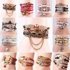 Fashion <b>Elegant Braided Leather Rope</b> Woven Chain Stylish ...