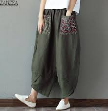 best top zanzea linen <b>pants</b> and cotton for women ideas and get free ...