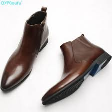 <b>QYFCIOUFU 2019 Fashionable</b> Genuine Leather Boots For <b>Men</b> ...