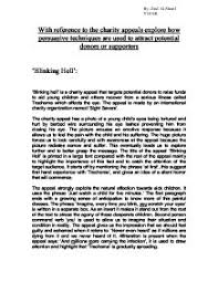 charity appeal essay blinking hell and sheep   gcse english    charity appeal essay blinking hell and sheep