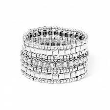 <b>Серебристый</b> браслет Roselynette с кристаллами - купить за 21 ...