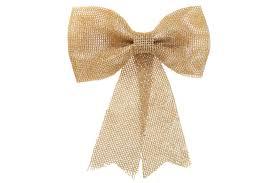 Купить Новогодний <b>декор Бант 24см</b>, цвет - золото по лучшей ...