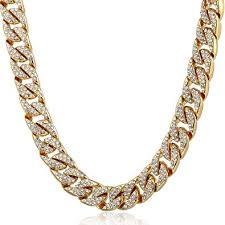 Trendsmax 14mm Mens Womens <b>Hiphop</b> Necklace Chain Iced Out ...