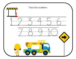 printable numbers best worksheet tracing numbers 1 10 preschool