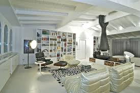 room fabio black modern: awe inspiring attic penthouse located in lombardy by fabio gianoli glamorous living room with