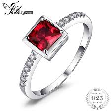 JewelryPalace Pigeon Blood Ruby Ring Solid <b>925 Sterling Silver</b> ...