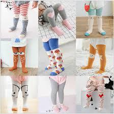Cotton Knitting <b>Baby Tights Infant Girls</b> Boys Cartoon Non Slip Tights ...