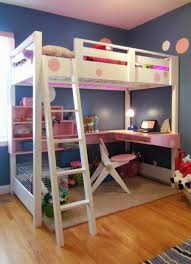 loft bed with desk do it yourself home projects from ana white bunk bed office space