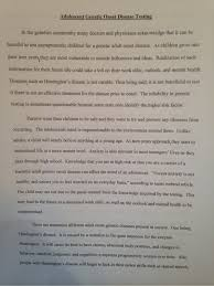 blog •i created an essay for my honors biology class it was an essay that was supporting my ideas about genetic adult onset testing for adolescents