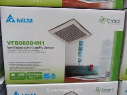 sensing bathroom fan quiet:  delta breez humidity sensing bath ventilation fan costco  x