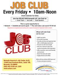 selaco wib youth services clubs click here to preview job club flyer