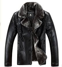 Winter pilot <b>leather</b> male, fur <b>leather</b> coat <b>outdoor leisure</b> motorcycle ...