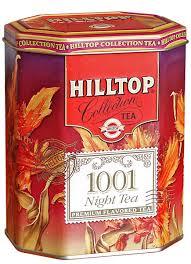 hilltop 1001 ночь черный листовой чай в чайнице цветочный