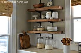wood sign glass decor wooden kitchen wall:  images about kitchen wall unit on pinterest open shelving shelf brackets and wrought iron