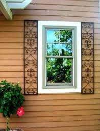 Decorative Windows For Houses Wrought Iron House Shutters