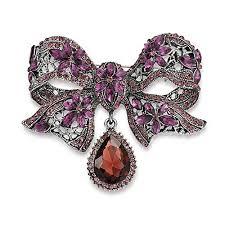 Bling Jewelry Large Vintage Style Purple Crystal ... - Amazon.com